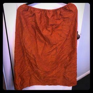 Eileen Fisher crinkle rust skirt